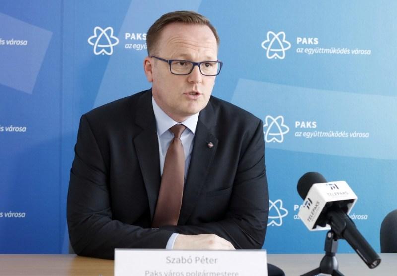 Szabó Péter, Paks polgármestere. Fotó: Molnár Gyula/korábbi felvétel