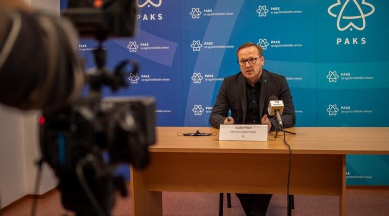 Szabó Péter, Paks polgármestere. Fotó: Szép Zsóka/TelePaks