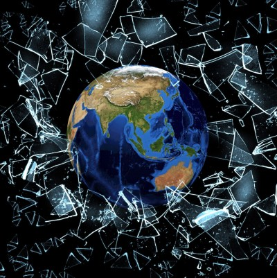Shattered glass around Earth