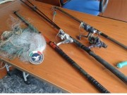 MATERIALE PESCA SEQUESTRATO MONTEBRUNO