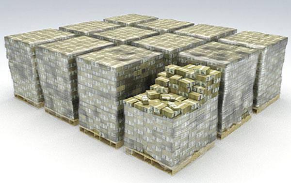 15 Billion Dallars Cash Dallars Safe