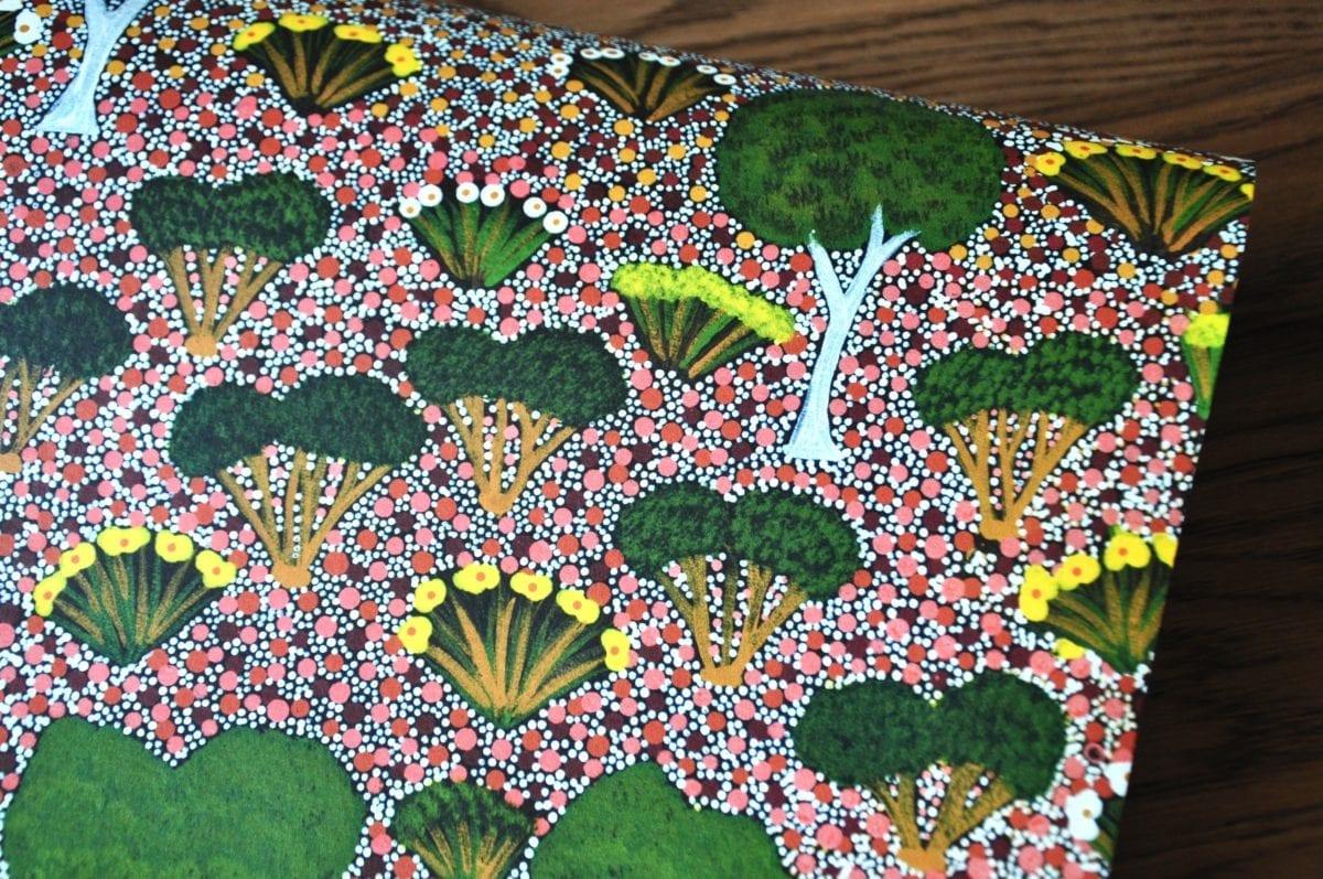 Lilly Aboriginal Art Wallpaper In Green