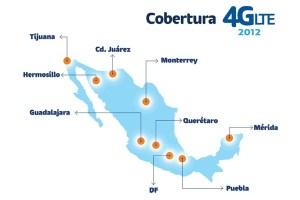 Cobertura de LTE anunciada por Telcel para 2012