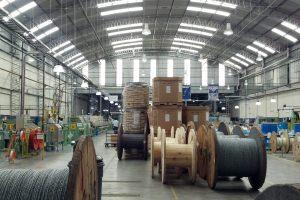 Vista de la planta de Furukawa en Argentina