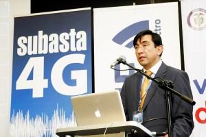 Ministro Diego Molano Vega, durante el cierre de la subasta 4G