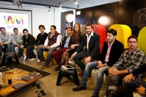 El country manager de Wayra Argentina, Andrés Saborido, durante la presentación de la nueva generación de emprendimientos tecnológicos que comienzan su aceleración.