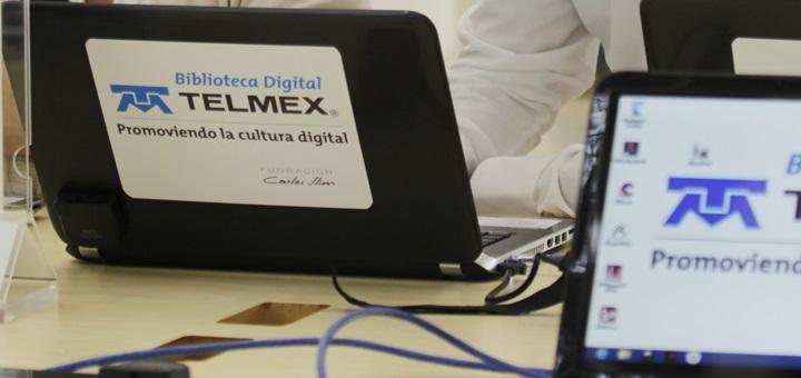Biblioteca digital Telmex en Veracruz. Imagen: Telmex.