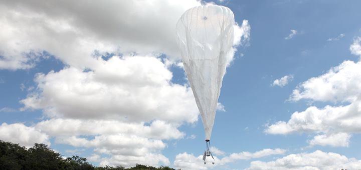 Lanzamiento de globos del Proyecto Loon en Brasil. Imagen: Herivelto Batista/ Ministério das Comunicações.