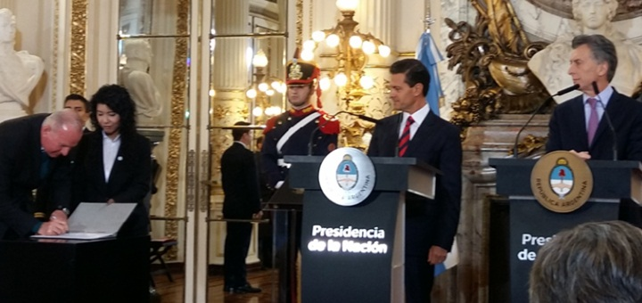Acuerdo en materia espacial entre Argentina y México. Imagen: SCT.
