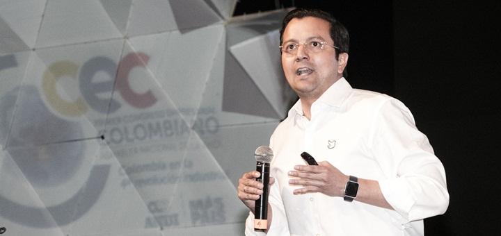 David Luna participó del Congreso Empresarial Colombiano. Imagen: Mintic.