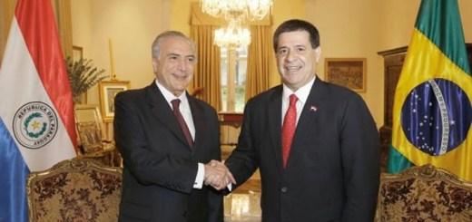 Temer y Cartes firmaron acuerdo de cooperación. Imagen: Presidencia de Paraguay