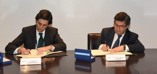 José María Álvarez-Pallete, presidente ejecutivo de Telefónica y Luis Alberto Moreno, presidente del BID. Imagen: Telefónica