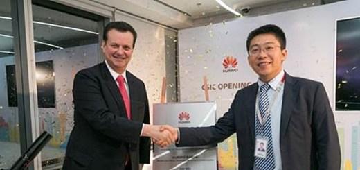 Giberto Kassab, ministro de Ciencia, Tecnología Innovación y Comunicaciones junto con Yao Wei, CEO de Huawei. Imagen: Huawei