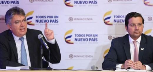 Ministro de Hacienda y Ministro TIC de Colombia. Imagen: Ministerio de Hacienda.