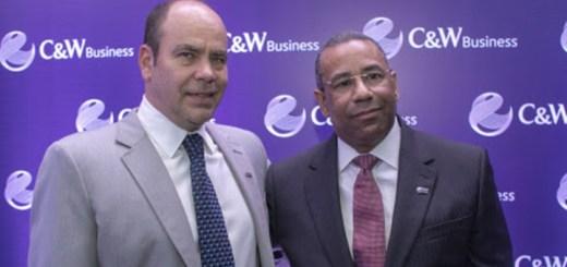 Mario Marciano, vicepresidente regional de C&W Business y Teudis Quezada, gerente de la empresa en República Dominicana. Imagen: Business Wire.