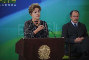 Dilma Rousseff, durante posse do novo ministro da Secretaria de Comunicação Social