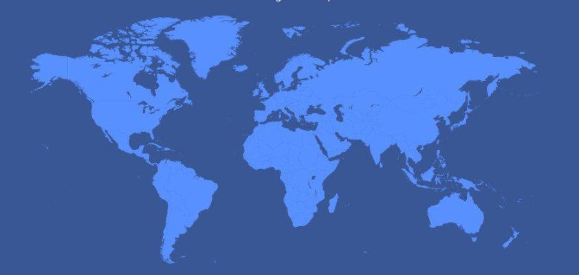 mapa mundi facebook