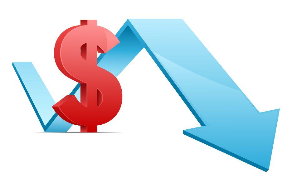 grafico-negativo-dinheiro-seta