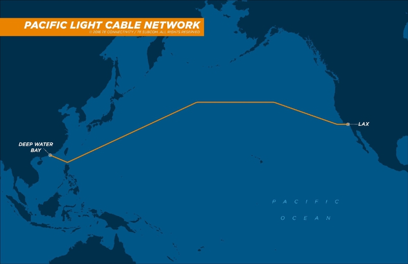 Proposed cable routing for PLCN. (PRNewsFoto/TE Connectivity Ltd.)