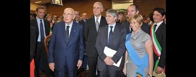 Napolitano in visita all'Emilia ferita