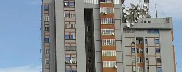 Grattacielo, ancora degrado