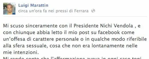 Post Vendola su Fb: Marattin rischia delega al bilancio