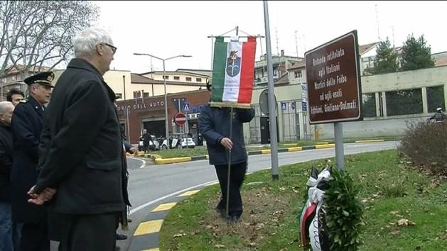 """Il Giorno del Ricordo alla rotonda delle """"vittime delle Foibe"""" – VIDEO"""