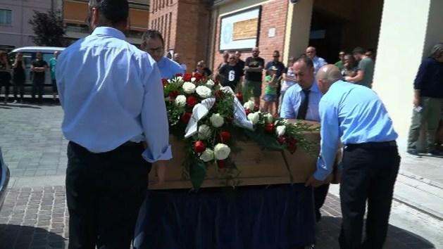 Il funerale di Marcello cenci, lo scorso luglio 2017, a Pontelagoscuro