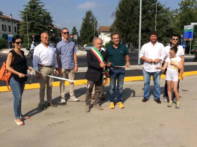 Rotonda via Caldirolo inaugurata ufficialmente