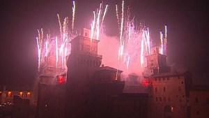 castello capodanno incendio