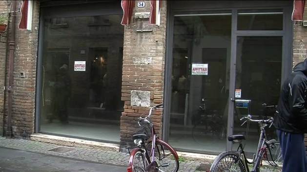 I negozi chiusi in centro a Ferrara – VIDEO