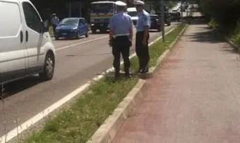 polizia municipale ciclabile traffico vigili urbani