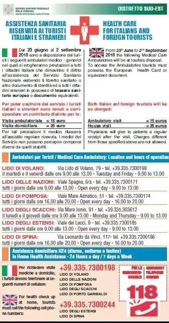 Lidi Comacchio, da lunedì 3 settembre stop al servizio di guardia medica turistica