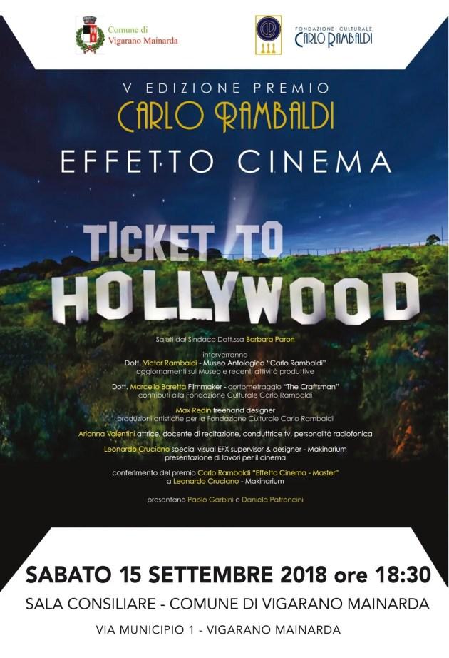 """""""Effetto cinema"""": quinta edizione del premio Carlo Rambaldi"""