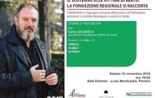 Con Carlo Lucarelli un incontro sulla Fondazione emiliano-romagnola per le vittime dei reati
