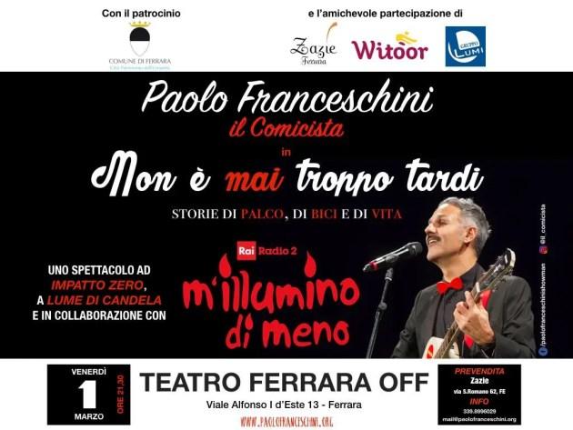 """Ferrara Off """"si illumina di meno"""" per la giornata del risparmio energetico"""
