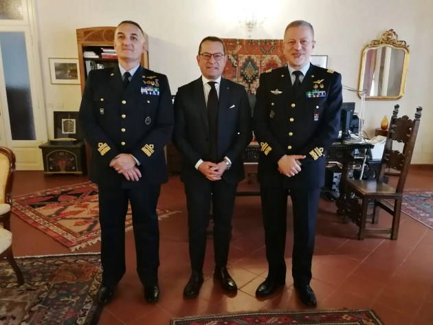 Il Prefetto ha ricevuto il nuovo Comandante del COA di Poggio