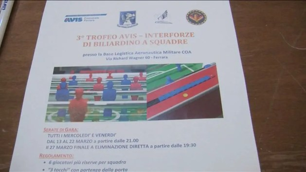 Biliardino: 3° Trofeo Avis-Interforze – VIDEO