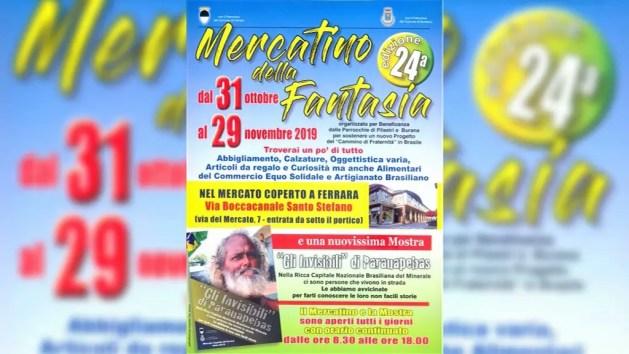 """Il """"Mercatino della Fantasia"""" a Ferrara – VIDEO"""