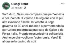 Il dramma di Venezia al centro di una polemica Fb fra Giangi Franz e Alan Fabbri