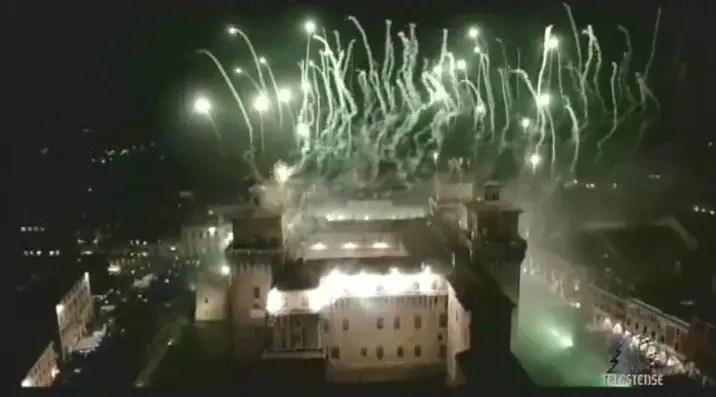 incendio castello capodanno ferrara