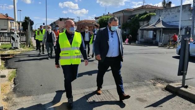 Bonaccini in visita al cantiere che cambierà via Bologna – VIDEO