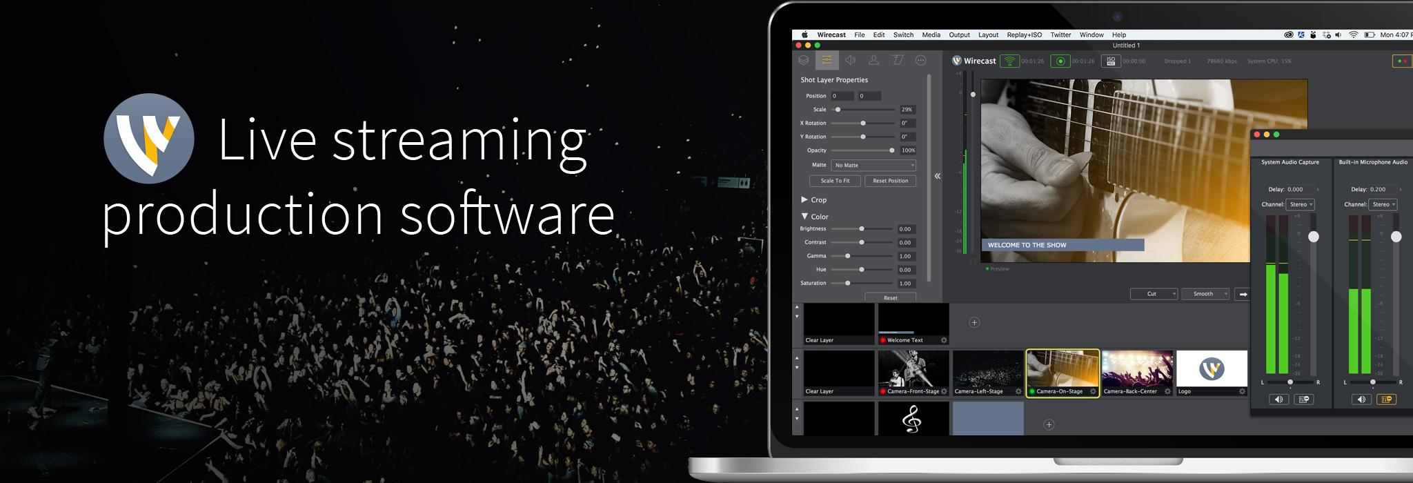 Wirecast Pro Mac 破解版 专业摄像直播视频工具