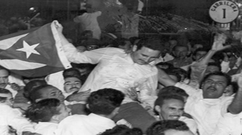 El pueblo cubano recibió a Fidel en La Habana como un líder popular.