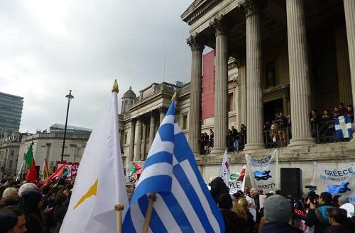 Solidarity Demonstration in Nottingham, UK.