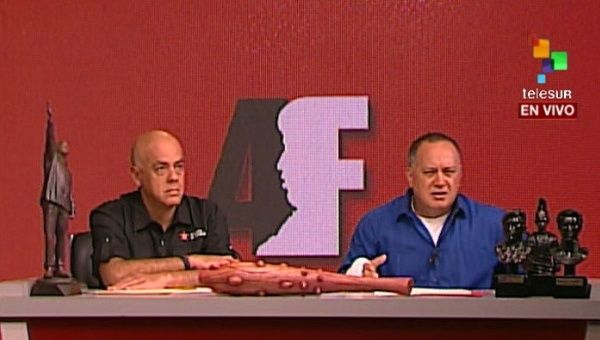 Venezuelan National Assembly president Diosdado Cabello and mayor of the Caracas municipality of Libertador Jorge Rodriguez say many of the opposition