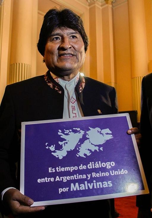 El presidente de Bolivia, Evo Morales, instó a Reino Unido a escuchar a la ONU, que también llama al diálogo.