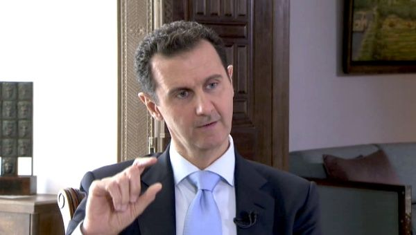 President Bashar Assad has long accused international powers of backing insurgent groups and seeking to destabilize the country.