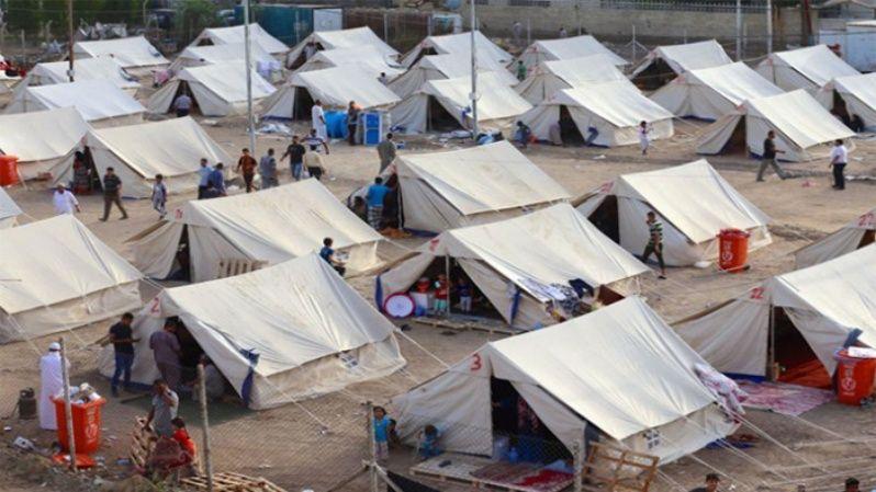 Campamento de personas desplazadas en Al-Jamea, Bagdad, donde residen 97 familias.