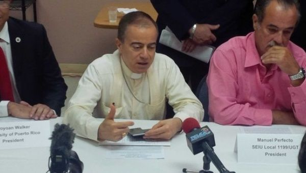 Archbishop Roberto Gonzalez talking about Puerto Rico